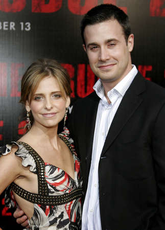 grudge: Freddie Prinze Jr. and Sarah Michelle Gellar at the World Premiere of The Grudge 2 held at the Knotts Berry Farm in Buena Park, USA on October 8, 2006.
