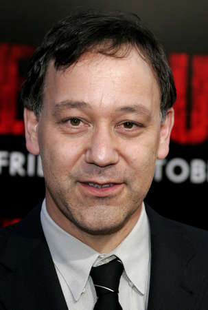 grudge: Sam Raimi at the World premiere of The Grudge 2 held at the Knotts Berry Farm in Buena Park, California, United States on October 6, 2006. Editorial