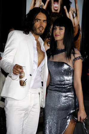 perry: Russell Brand and Katy Perry at the World premiere of Get Him To The Greek held at the Greek Theater in Hollywood, USA on May 25, 2010.