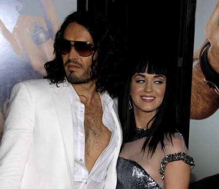 Russell Brand and Katy Perry at the World premiere of