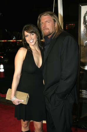 Stephanie McMahon and Paul Michael Levesque aka Triple H at the Los Angeles premiere of 'Blade: Trinity' held at the Grauman's Chinese Theater in Hollywood, USA on December 7, 2004.