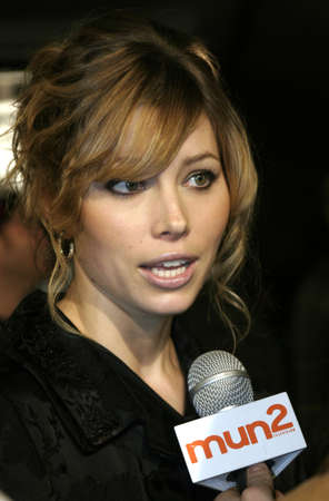 Jessica Biel at the Los Angeles premiere of Blade: Trinity held at the Graumans Chinese Theater in Hollywood, USA on December 7, 2004.
