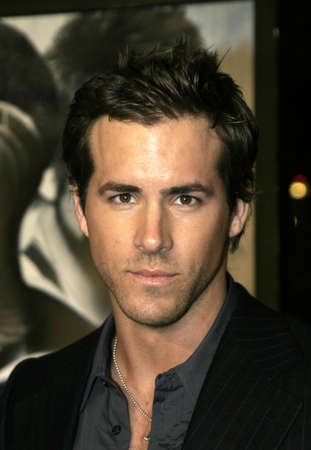 Ryan Reynolds at the Los Angeles premiere of Blade: Trinity held at the Graumans Chinese Theater in Hollywood, USA on December 7, 2004.