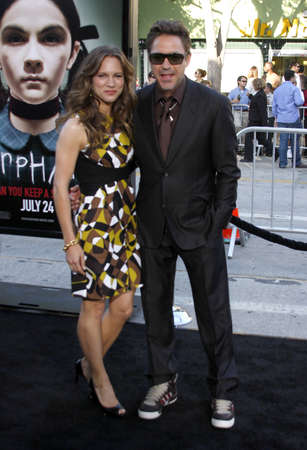 Robert Downey Jr. and Susan Downey at the Los Angeles premiere of 'Orphan' held at the Mann Vilage Theater in Westwood, USA on July 21, 2009.