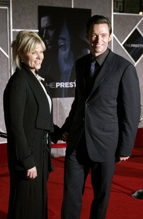 ヒュー ・ ジャックマン、「プレステージ」の世界初演で Deborra リー ファーネス エルキャピタン劇場ハリウッド、カリフォルニア州、アメリカ合衆国で開催 2006 年 10 月 17 日。