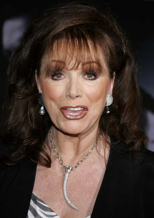 Jackie Collins at the World premiere of The Prestige held at the El Capitan Theatre in Hollywood, California, United States on October 17, 2006.
