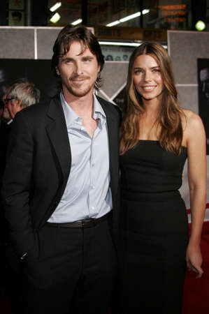 Christian Bale and Sibi Blazic at the World premiere of The Prestige held at the El Capitan Theatre in Hollywood, California, United States on October 17, 2006.