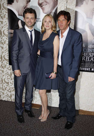 guild: Michael Sheen, Hope Davis and Dennis Quaid at the Los Angeles premiere of The Special Relationship held at the Directors Guild of America in Hollywood, California, United States on May 19, 2010.