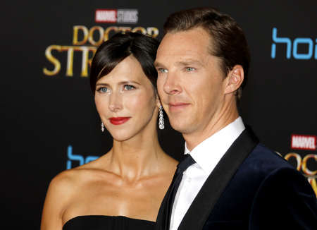 Benedict Cumberbatch and Sophie Hunter at the World premiere of Doctor Strange held at the El Capitan Theatre in Hollywood, USA on October 20, 2016.