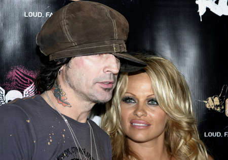 tommy: Tommy Lee and Pamela Anderson at the Rokbar Hollywood Launch Party in Hollywood, USA on June 30, 2005.