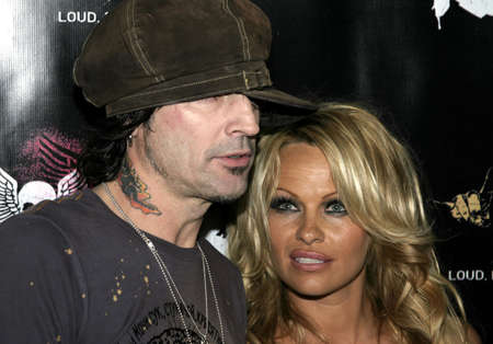 opening party: Tommy Lee and Pamela Anderson at at the Rokbar Hollywood Grand Opening Party in Hollywood, USA on June 30 2005.
