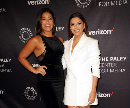 Gina Rodriguez and Eva Longoria at the Paley Center for Medias Hollywood Tribute to Hispanic Achievements in Television held at the Four Seasons Hotel in Beverly Hill, USA on October 24, 2016.