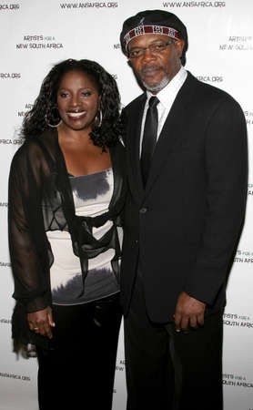 Samuel L. Jackson and LaTanya Richardson at the Archbishop Desmond Tutus 75th Birthday Celebration held at the Regent Beverly Wilshire Hotel in Beverly Hills, USA on September 18, 2006. Sajtókép
