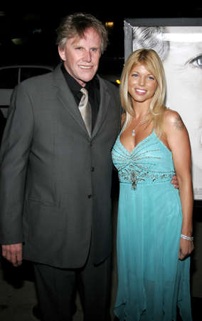 Gary Busey and Donna DErrico at the Los Angeles premiere of The Queen held at the Academy of Motion Picture Arts and Sciences in Beverly Hills, USA on October 3, 2006.