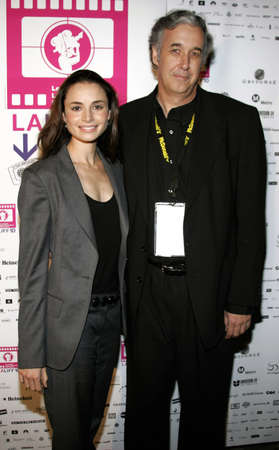 Mia Maestro and director Ricardo Preve at the LALIFF Screening of Chagas: A Hidden Affliction held at the Egyptian Arena Theatre in Hollywood, California, United States on October 7, 2006.
