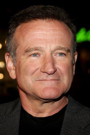 """Robin Williams bij de première van Los Angeles van de """"Man van het Jaar"""" gehouden in het Grauman's Chinese Theater in Hollywood, USA op 4 oktober 2006. Redactioneel"""
