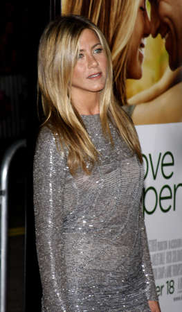 Jennifer Aniston at the World premiere of Love Happens held at the Mann Village Theater in Westwood, USA on September 15, 2009. Editorial