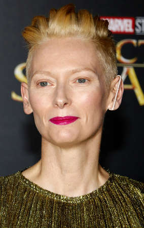 Tilda Swinton at the World premiere of Doctor Strange held at the El Capitan Theatre in Hollywood, USA on October 20, 2016.