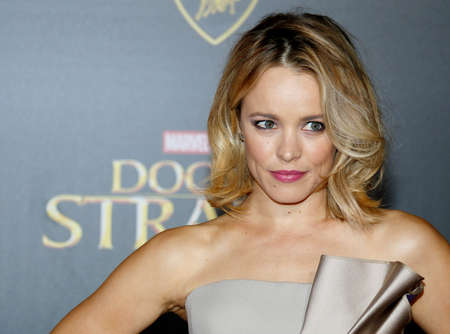 Rachel McAdams at the World premiere of 'Doctor Strange' held at the El Capitan Theatre in Hollywood, USA on October 20, 2016.