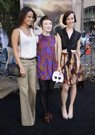 malone: Jamie Chung, Emily Browning and Jena Malone at the Los Angeles premiere of Legends of the Guardians: The Owls of GaHoole held at the Graumans Chinese Theater in Hollywood, USA on September 19, 2010.
