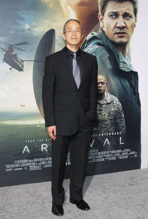 ted: Ted Chiang at the Los Angeles premiere of Arrival held at the Regency Village Theater in Westwood, USA on November 6, 2016.