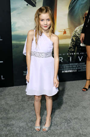 malone: Jadyn Malone at the Los Angeles premiere of Arrival held at the Regency Village Theater in Westwood, USA on November 6, 2016.