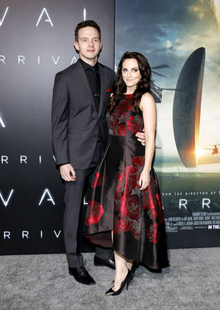 georgina: Georgina Reilly and Mark OBrien at the Los Angeles premiere of Arrival held at the Regency Village Theater in Westwood, USA on November 6, 2016. Editorial