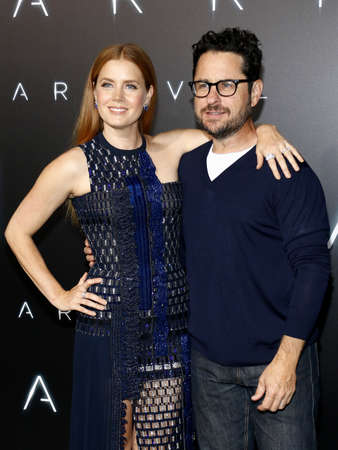 ufos: Amy Adams and J.J. Abrams at the Los Angeles premiere of Arrival held at the Regency Village Theater in Westwood, USA on November 6, 2016. Editorial