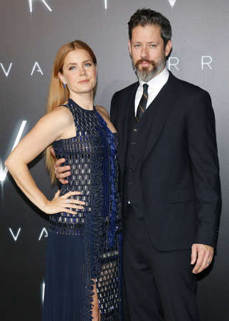 Amy Adams and Darren Le Gallo at the Los Angeles premiere of Arrival held at the Regency Village Theater in Westwood, USA on November 6, 2016. Editorial