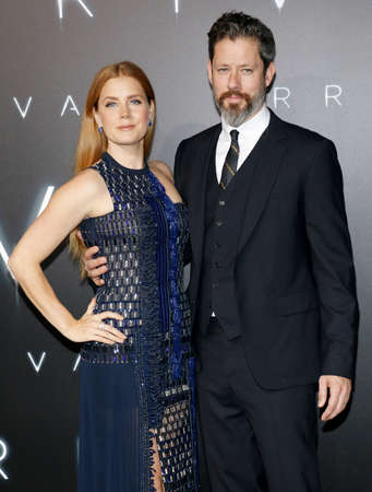 ufos: Amy Adams and Darren Le Gallo at the Los Angeles premiere of Arrival held at the Regency Village Theater in Westwood, USA on November 6, 2016. Editorial