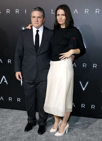 ufos: Brad Grey and Cassandra Huysentruyt at the Los Angeles premiere of Arrival held at the Regency Village Theater in Westwood, USA on November 6, 2016.