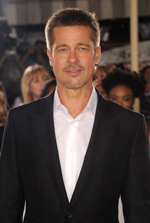 brad pitt: Brad Pitt at the Los Angeles premiere of Allied held at the Regency Village Theatre in Westwood, USA on November 9, 2016.