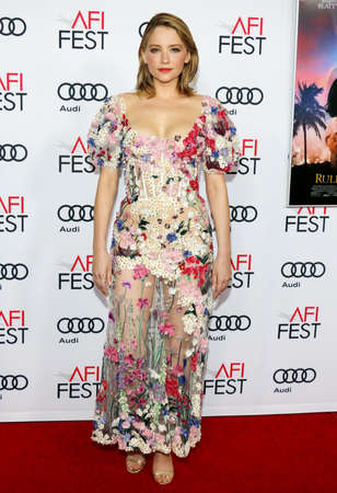 bennett: Haley Bennett at the AFI FEST 2016 Opening Night Premiere of 'Rules Don't Apply' held at the TCL Chinese Theatre in Hollywood, USA on November 10, 2016.