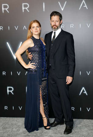 Darren Le Gallo and Amy Adams at the Los Angeles premiere of 'Arrival' held at the Regency Village Theater in Westwood, USA on November 6, 2016.