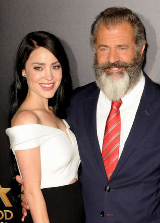 Rosalind Ross and Mel Gibson at the 20th Annual Hollywood Film Awards held at the Beverly Hilton Hotel in Beverly Hills, USA on November 6, 2016. Editorial