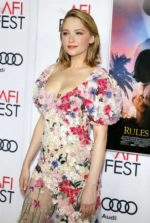 bennett: Haley Bennett at the AFI FEST 2016 Opening Night Premiere of Rules Dont Apply held at the TCL Chinese Theatre in Hollywood, USA on November 10, 2016. Editorial