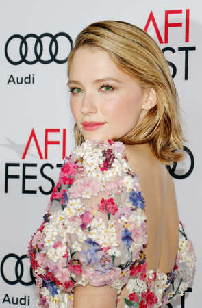Haley Bennett at the AFI FEST 2016 Opening Night Premiere of Rules Dont Apply held at the TCL Chinese Theatre in Hollywood, USA on November 10, 2016. Editorial