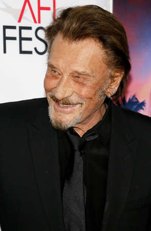 Johnny Hallyday at the AFI FEST 2016 Opening Night Premiere of Rules Dont Apply held at the TCL Chinese Theatre in Hollywood, USA on November 10, 2016.