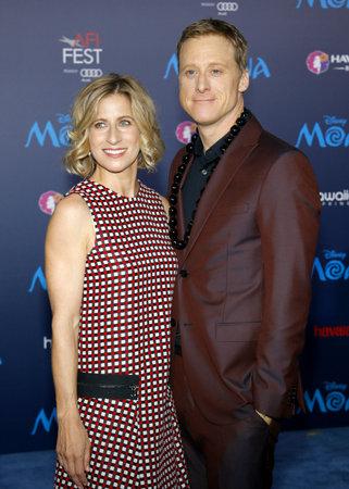 alan: Charissa Barton and Alan Tudyk at the AFI FEST 2016 Premiere of Moana held at the El Capitan Theatre in Hollywood, USA on November 14, 2016.