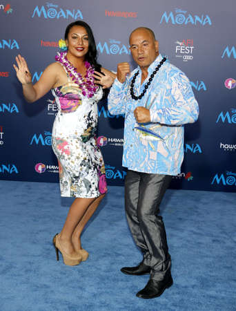 morrison: Temuera Morrison at the AFI FEST 2016 Premiere of Moana held at the El Capitan Theatre in Hollywood, USA on November 14, 2016. Editorial