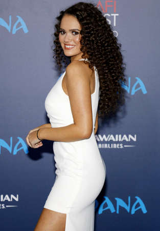 Madison Pettis at the AFI FEST 2016 Premiere of Moana held at the El Capitan Theatre in Hollywood, USA on November 14, 2016.