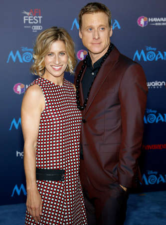Charissa Barton and Alan Tudyk at the AFI FEST 2016 Premiere of 'Moana' held at the El Capitan Theatre in Hollywood, USA on November 14, 2016. Stok Fotoğraf - 65909199