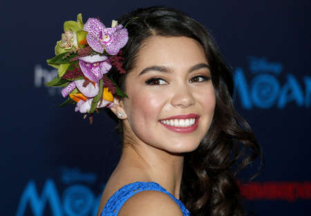 Auli'i Cravalho at the AFI FEST 2016 Premiere of Moana held at the El Capitan Theatre in Hollywood, USA on November 14, 2016. Editorial