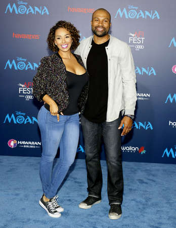 gloria: Gloria Govan and Derek Fisher at the AFI FEST 2016 Premiere of Moana held at the El Capitan Theatre in Hollywood, USA on November 14, 2016. Editorial