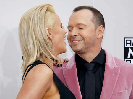 Jenny McCarthy and Donnie Wahlberg at the 2016 American Music Awards held at the Microsoft Theater in Los Angeles, USA on November 20, 2016. Editorial