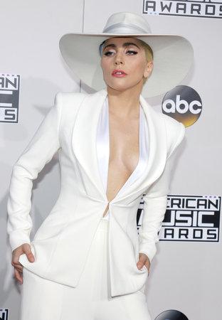 gaga: Lady Gaga at the 2016 American Music Awards held at the Microsoft Theater in Los Angeles, USA on November 20, 2016.
