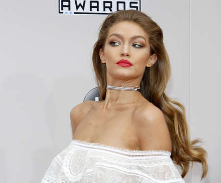 Gigi Hadid at the 2016 American Music Awards held at the Microsoft Theater in Los Angeles, USA on November 20, 2016. Editorial