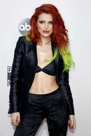 Bella Thorne at the 2016 American Music Awards held at the Microsoft Theater in Los Angeles, USA on November 20, 2016.