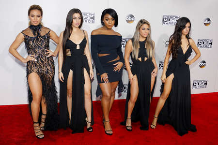 Ally Brooke, Normani Kordei, Dinah Jane, Camila Cabello and Lauren Jauregui of Fifth Harmony at the 2016 American Music Awards held at the Microsoft Theater in Los Angeles, USA on November 20, 2016. Editorial