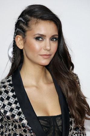 Nina Dobrev at the 2016 American Music Awards held at the Microsoft Theater in Los Angeles, USA on November 20, 2016. Editorial